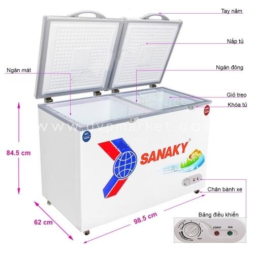 Tủ đông Sanaky VH 2599W1 250 lít