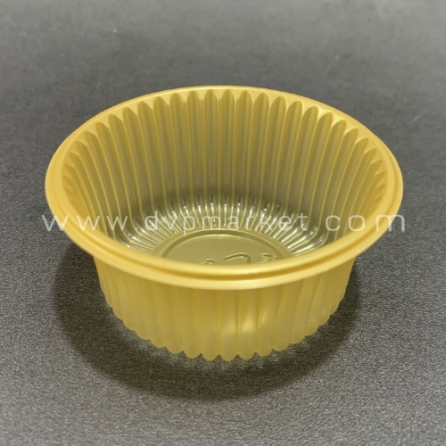 Khay TT tròn màu vàng 6.5 50g (Xấp 50)