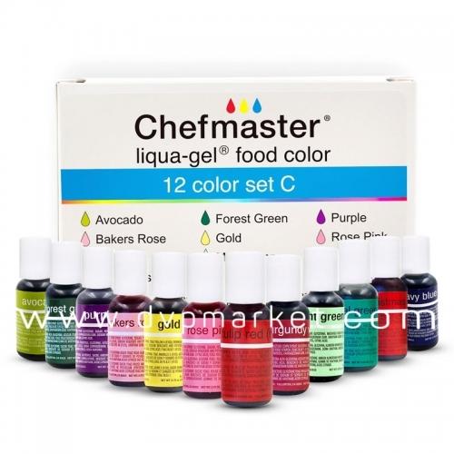 Bộ 12 màu Chefmaster Liqua-Gel CLR