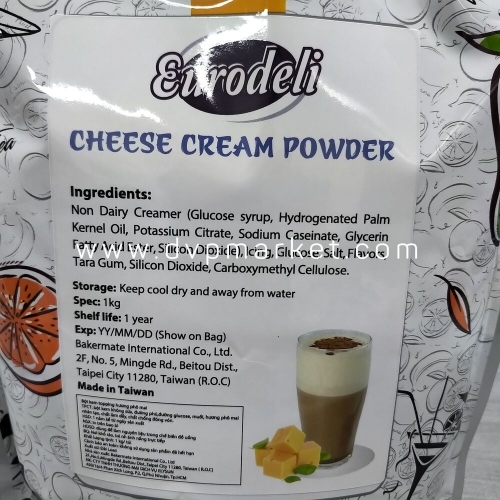 Bột kem topping hương phô mai Eurodeli 1kg