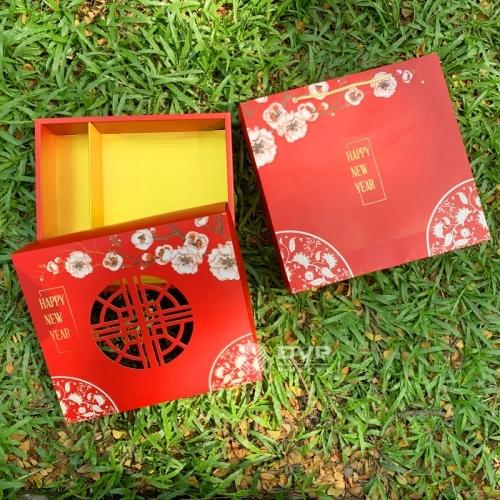 Bộ túi hộp Tết hoa đào 2021