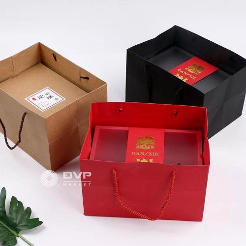 Bộ túi hộp quà Tết 2021 size nhỏ 33.5x22.5x11