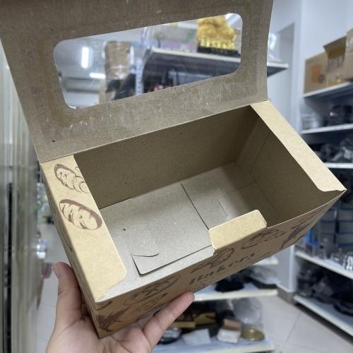 Hộp giấy đựng bánh mì hoa cúc 22*11.5*10cm