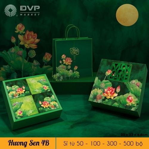 Bộ túi hộp TT 4 bánh 150-250g Hương Sen 2021
