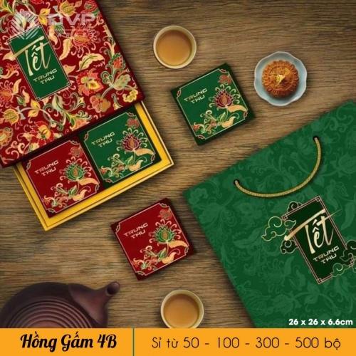 Bộ túi hộp TT 4 bánh 150-250g Hồng Gấm 2021