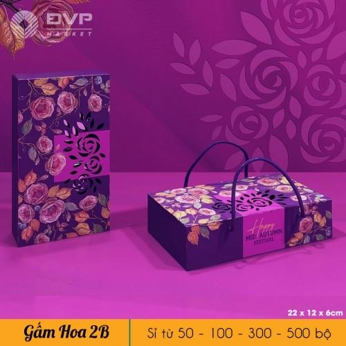 Bộ túi hộp TT 2 bánh 150-250g Gấm Hoa 2021