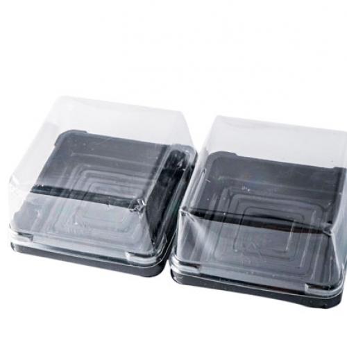 Hộp Bánh Trung Thu Nhựa Đế Đen 75G