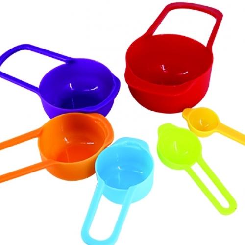 Bộ Cúp Nhựa 6 Món Sắc Màu