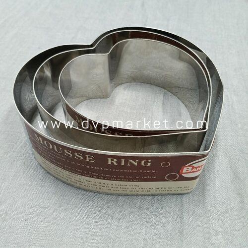 Khuôn Ring Bánh Mousse Trái Tim