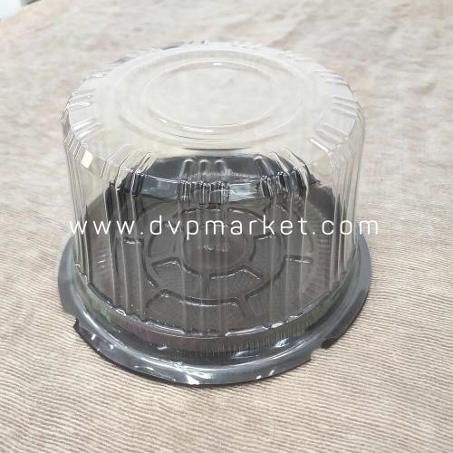 Hộp nhựa đựng bánh tròn 16cm đế đen a016 (25c)