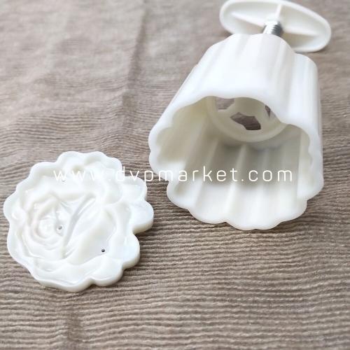 Khuôn bánh trung thu lò xo 50-70g 1 mặt hoa hồng 2021