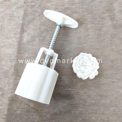 Khuôn bánh trung thu lò xo 150-180g 1 mặt hoa hồng 2021