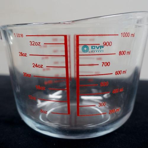 Ca đo lường thủy tinh chữ đỏ