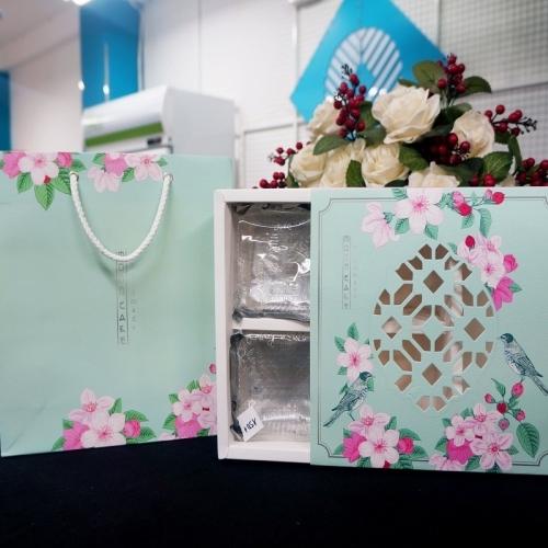 Bộ túi hộp trung thu 4 bánh 200-250g ngọt ngào 2019