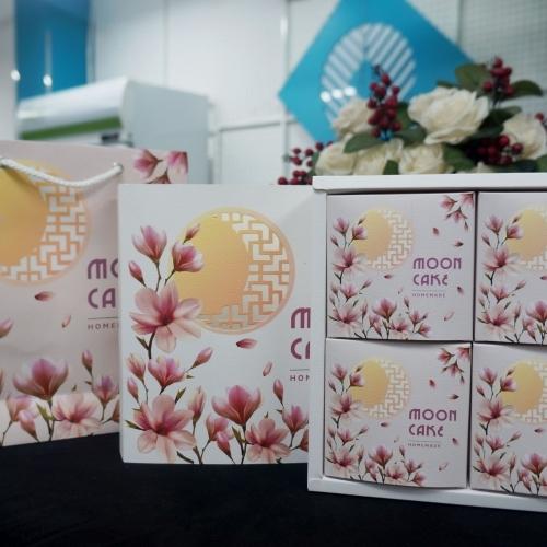Bộ túi hộp trung thu 4 bánh Mộc Lan 200 - 300g 2019
