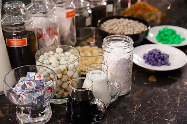 Nguyên liệu dùng trong trà sữa